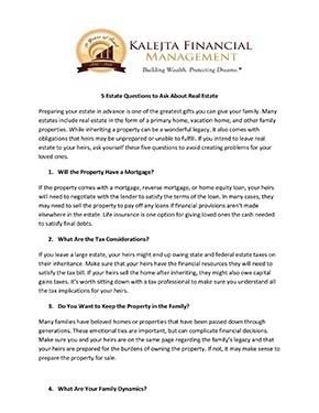 Estate Planning Letter